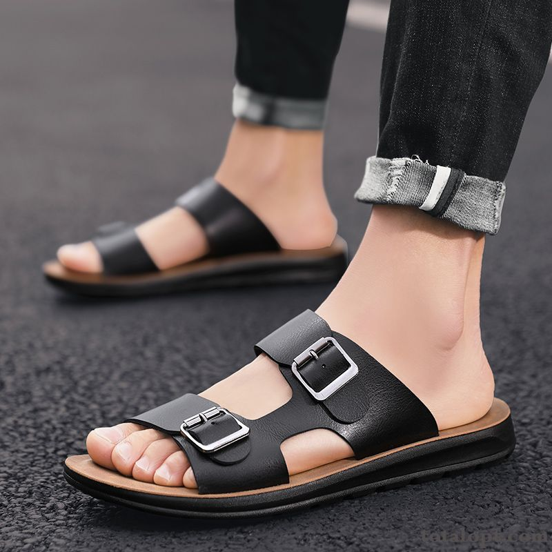 Sandals Personality Outwear Summer Mesh Brown Men's Outdoor Trend Red Slippers New Oyster White Baby Pink
