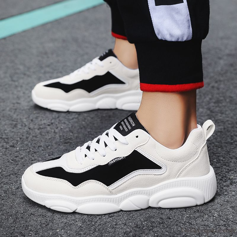 Spring White Trend Causal Shoes Black Red Mesh Men's Fashion All-match Sport Pea Green Navy Blue Online