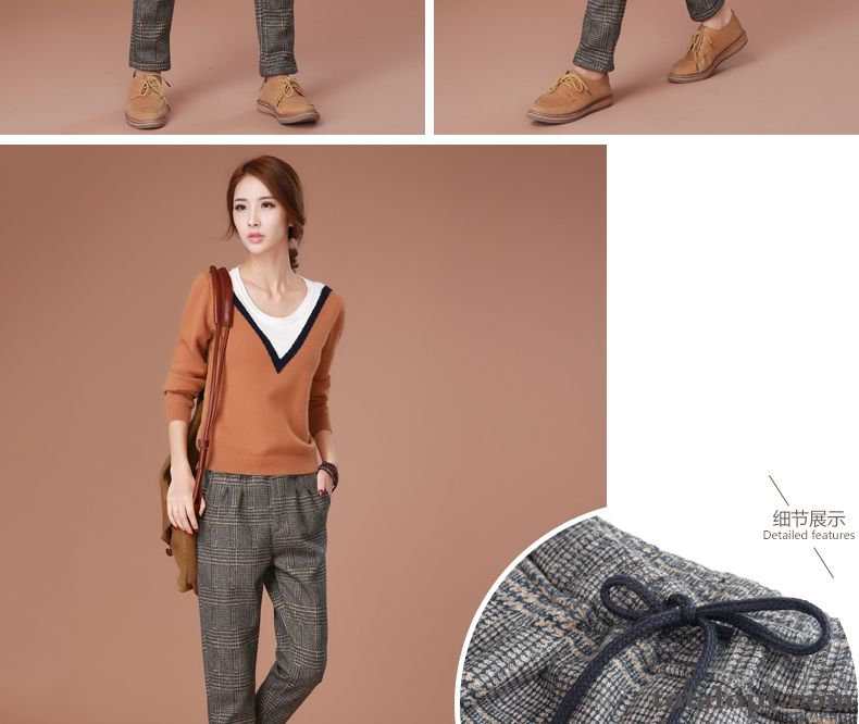 4df8fcf3524 New Harlan Winter Clothes Checks Pants Large Size Trousers ...