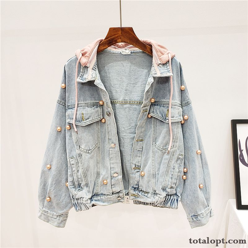 Autumn Coat Trend New Women's Student Blue Europe Loose Jacket Spring Shorts Hooded Breen Lilac Sale