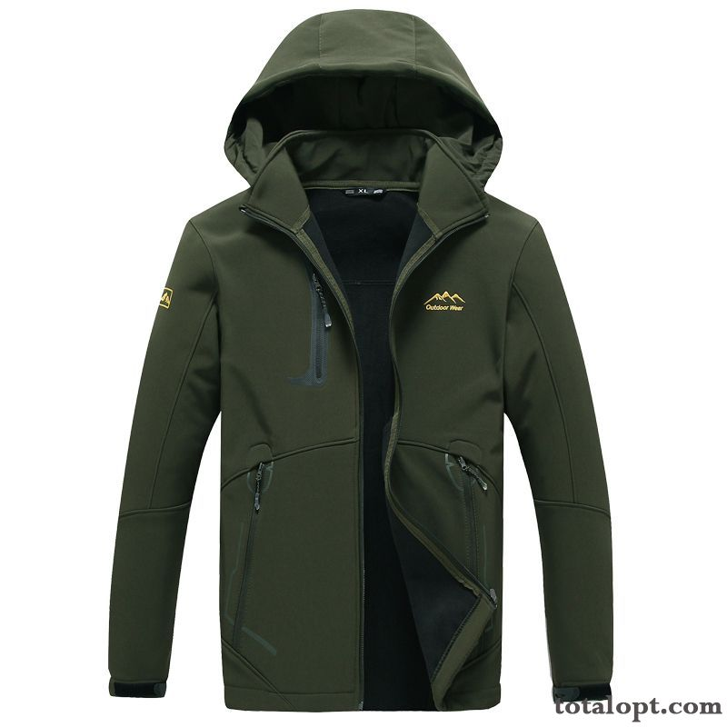 Autumn Jacket Fat Large Size New Big Sport Men's Coat Rosybrown Dark Green