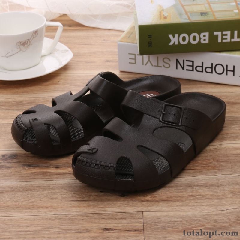 Beach Summer Black Casual Comfortable Slippers Men's Offwhite Seagreen