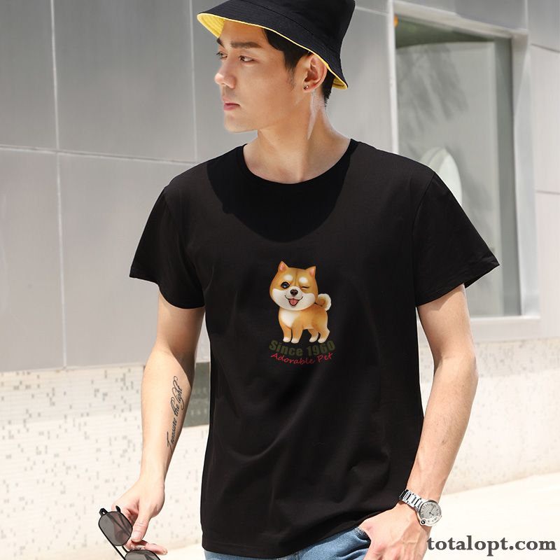 Black Lovers Trend Shorts Personality Ultra T-shirt White Men's Cotton Europe Rose Bisque Sale