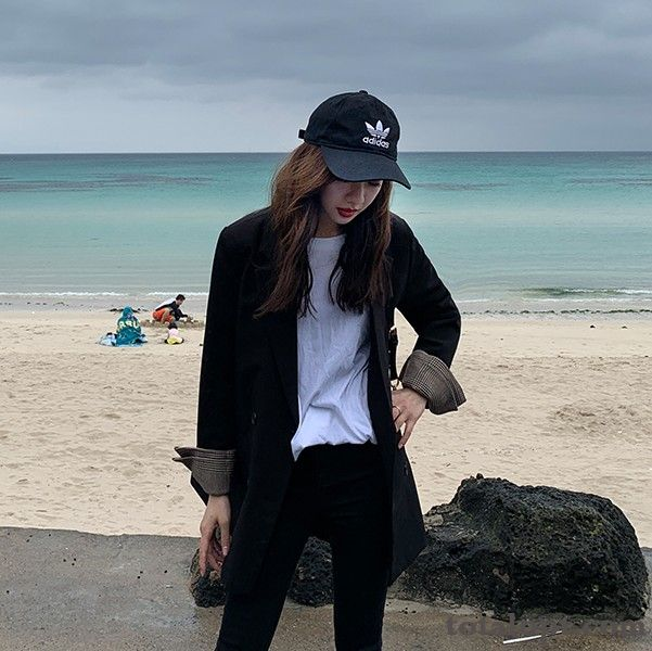 Blazer Spring Leisure Gray Europe Suit Black Splicing Women's Retro Coat Offwhite Dull Black For Sale