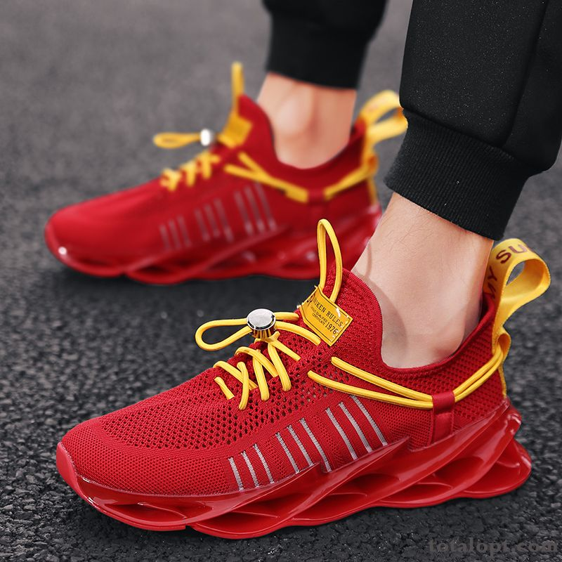 Breathable New Youth Athletic Shoes Causal Shoes Red Trend Summer All-match Men's Smoky Gray Chocolate