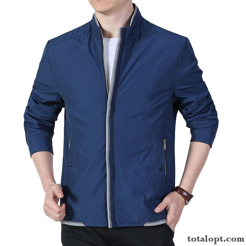 Cheap Coat Men's Blue Stand Collar Leisure Spring Autumn Jacket Skinny New Purple Lemon
