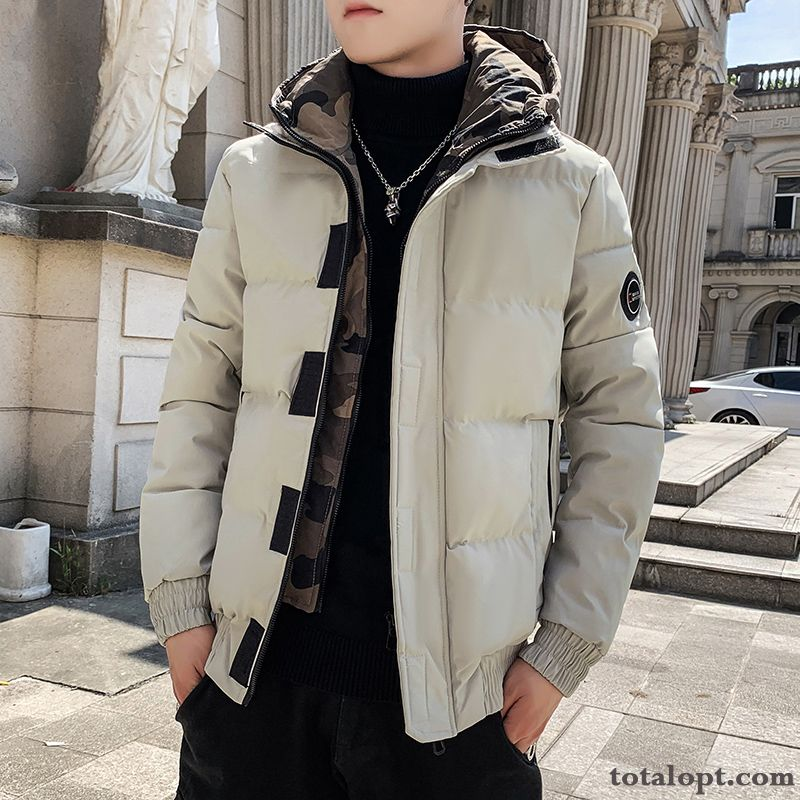 Cheap Cotton Trend Men's Winter Clothes Warm Autumn New Coat Loose Leisure Tomato Dull Black