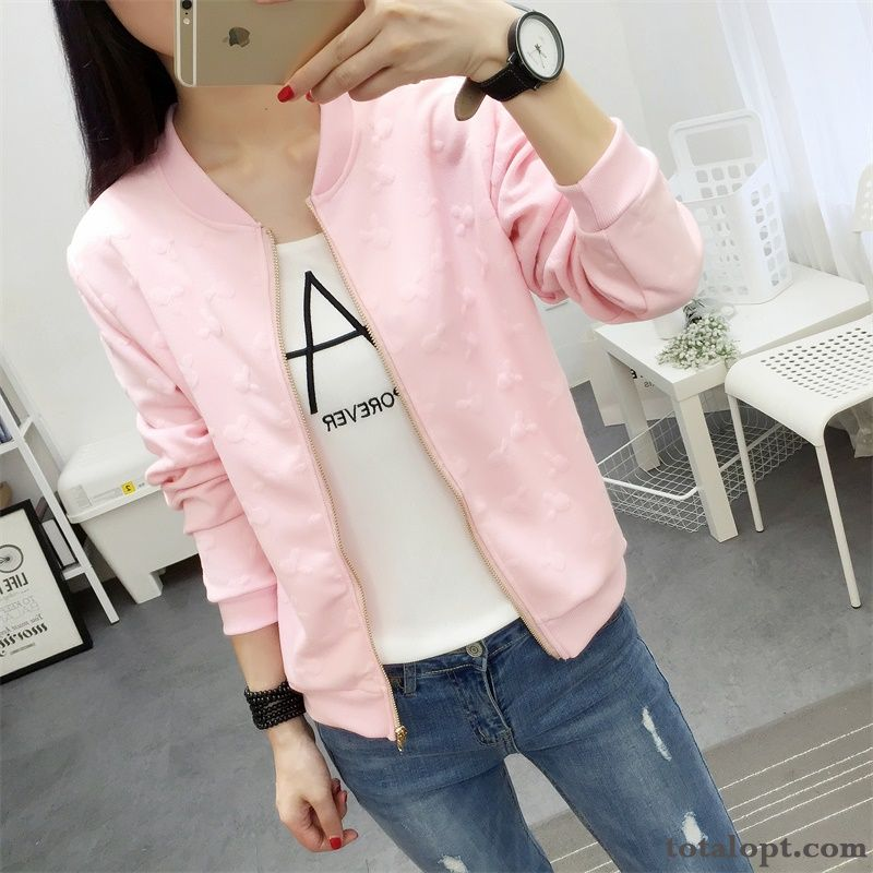 Cheap Europe Long Sleeves Coat Student Large Size Jacket Women's New Trend Loose Spring Shorts Autumn Sky Blue Cream