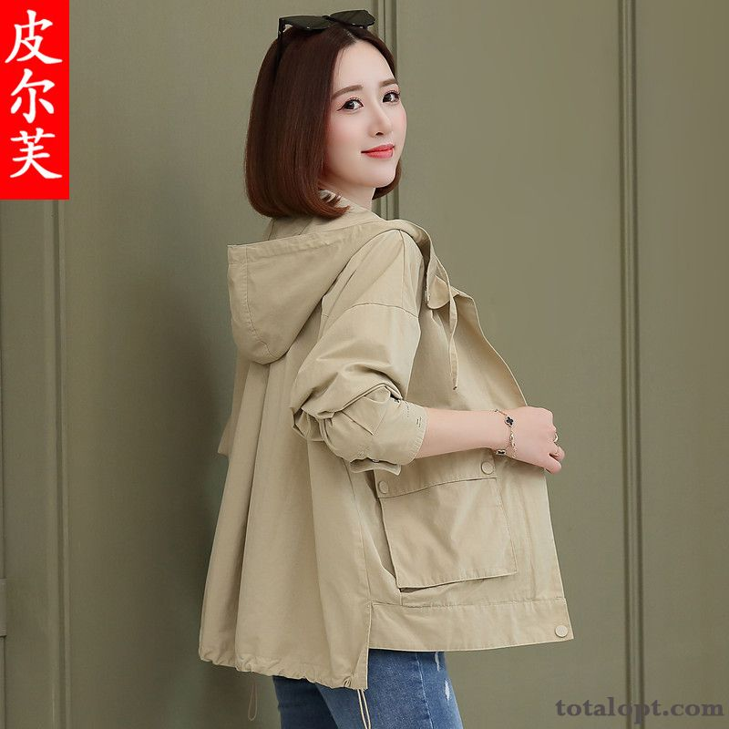 Cheap New Short Temperament Coat Women's Student Jacket Spring Loose Autumn Grey Black Wheat