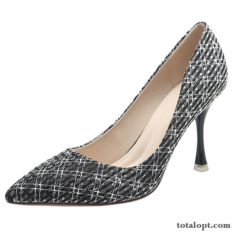 Cheap New Women Black Salmon Silver