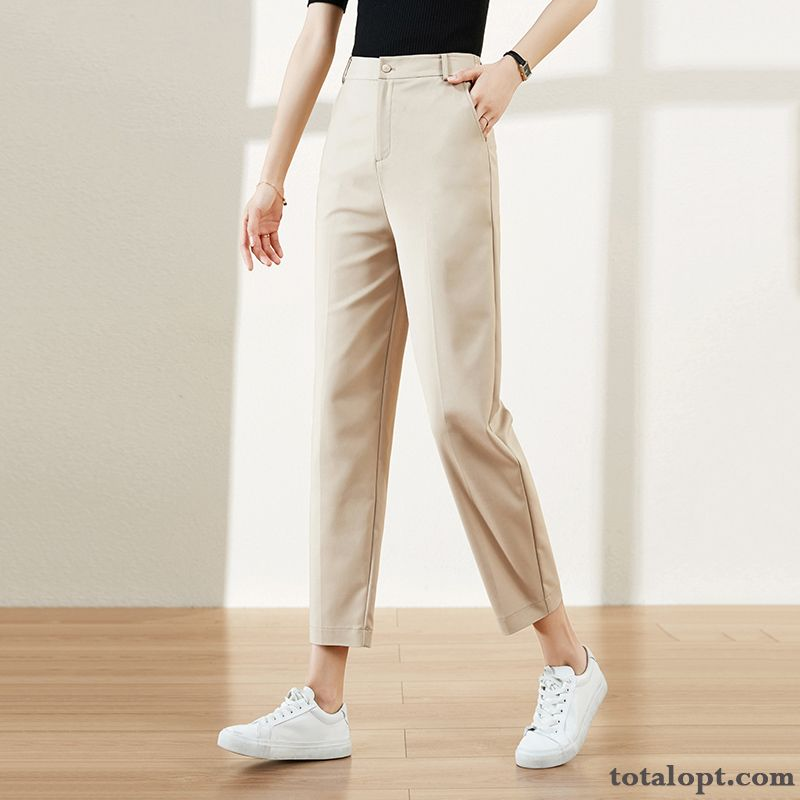 Cheap Pants Loose Leisure Autumn All-match Thin Spring Harlan Women's New Straight Beige Grape