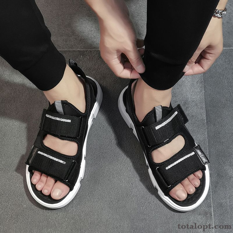 Cheap Soft Sole Trend Sport Black Sandals Beach Men's New Summer Casual Student Silver White Paleturquoise
