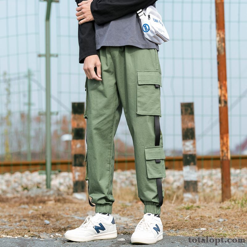 Cheap Trend Spring Pants Men's Loose Tooling Leisure Europe Trousers Fashion Sport Harlan Silver White Khaki