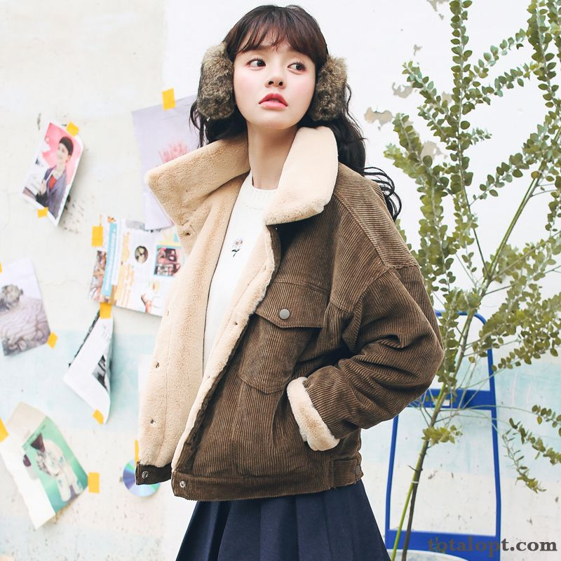 Cheap Winter Thickening Jacket New Coat Loose Student Autumn Europe Women's Pink Ivory