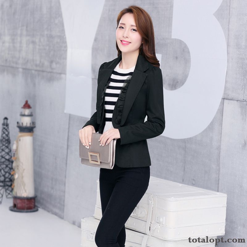 Coat Autumn All-match Women's Slim Suit Shorts New Products Thin Large Size Leisure Iris Reddle