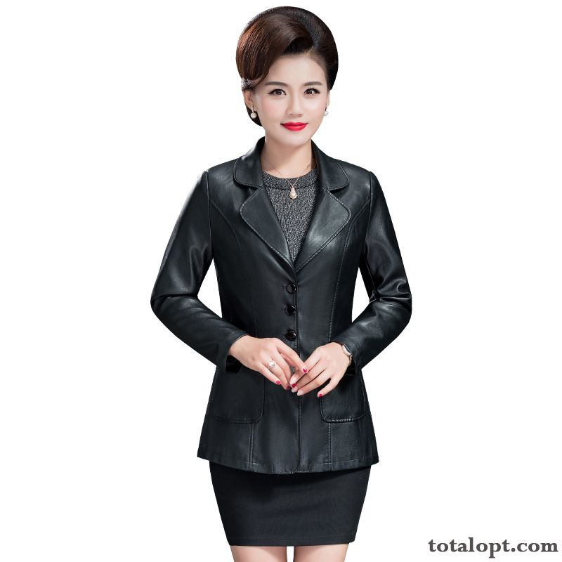 Coat Black Pu Winter Women's Large Size Leather Autumn Short Jacket Turquoise Blue Brown