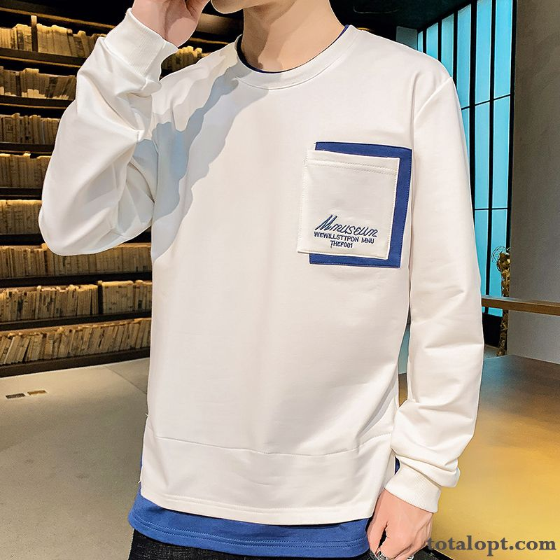 Coat Europe Bottoming Shirt New Trend Men's Long Sleeves Hoodies White Spring Palegreen Blue Discount