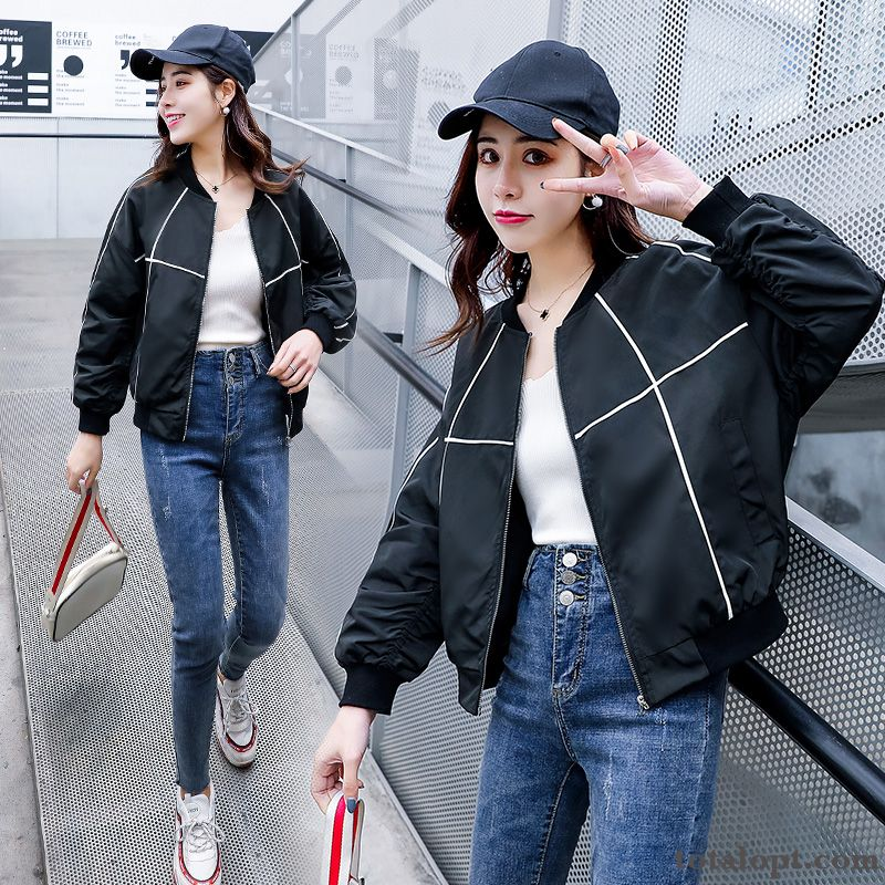 Coat Pilot Trend Autumn Black Europe Loose Spring Women's Jacket Short New Iridescent Pink