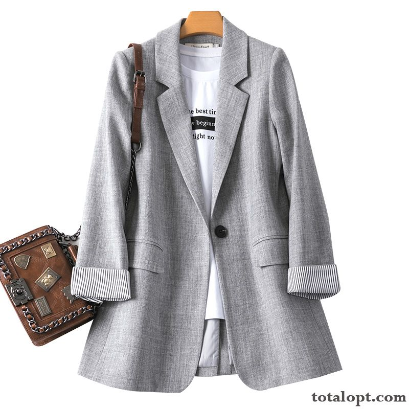 Coat Spring Red Suit Leisure England Women's Loose Skinny Blazer Gray New Summer Brown Modena For Sale