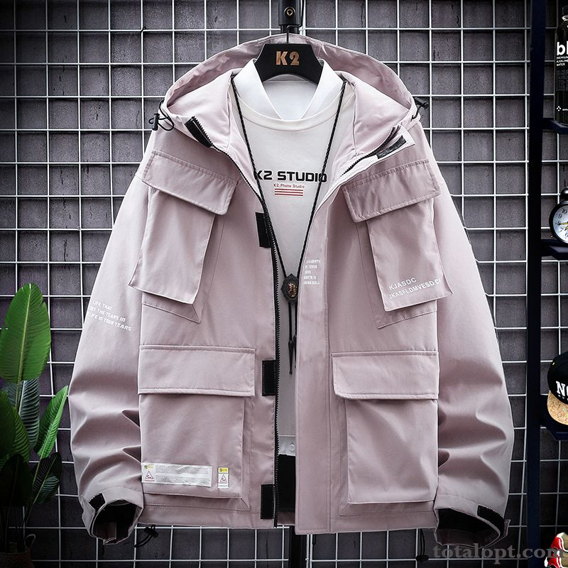 Coat Trend Tooling Autumn Pink Jacket Europe New Men's Spring Leisure Rose Ultramarine For Sale