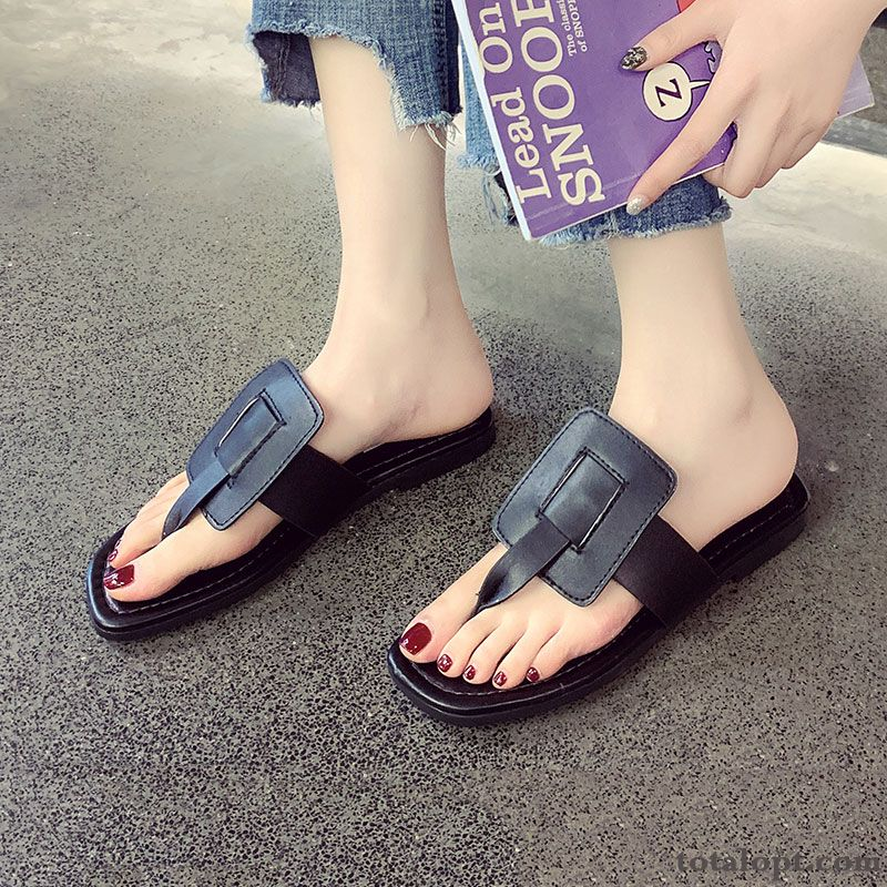 Fashion All-match Women New Summer Beach Black Purplish Red Tomato Discount
