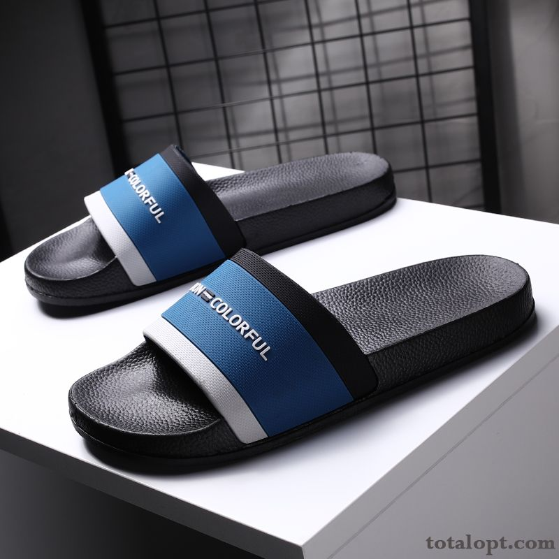 Fashion Personality Soft Sole Trend Outwear Beach New Men's Slippers Summer Blue Anti-skid White Grape Cherry Sale