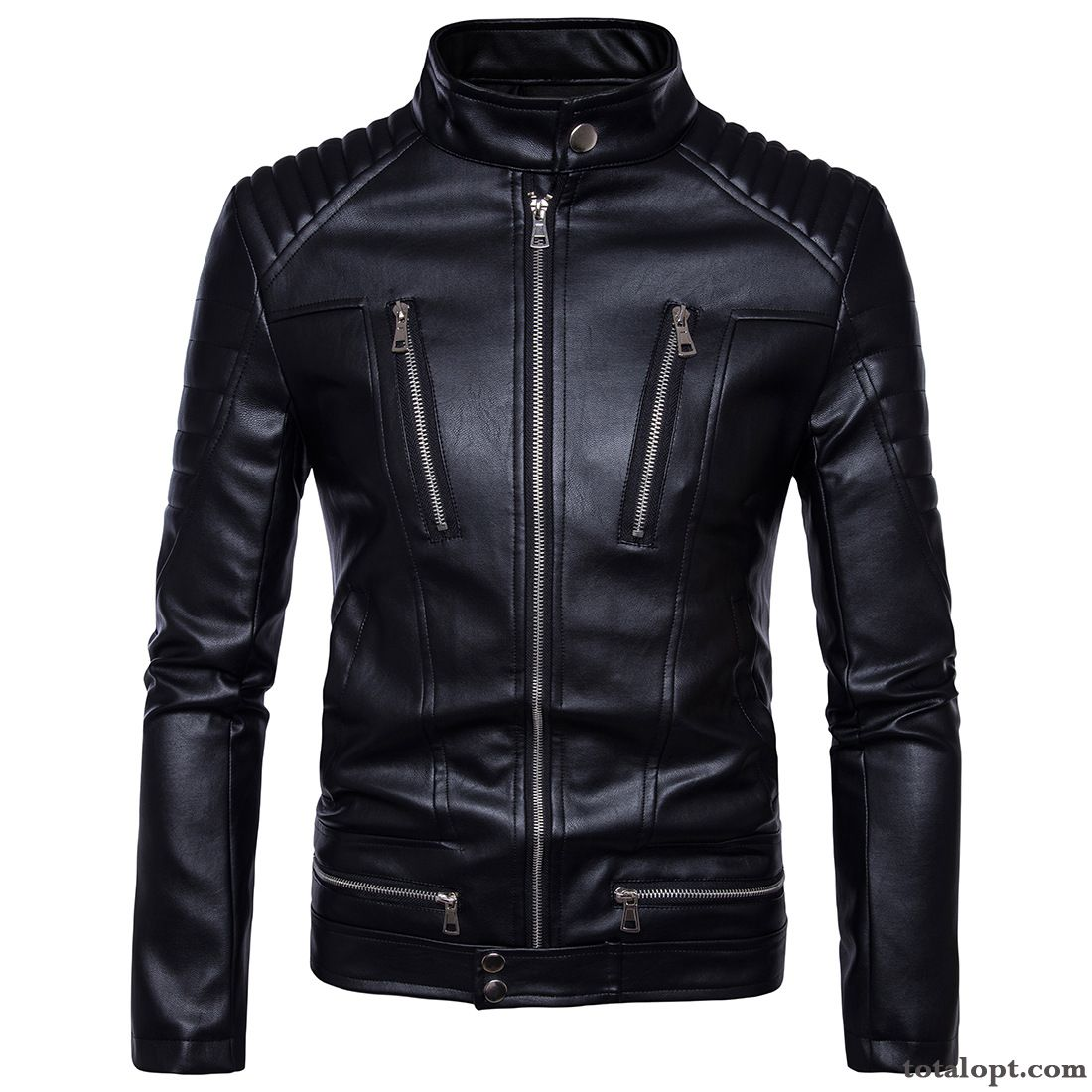 Jacket Coat Men's Leather New Products Spring Many Zipper Black Cherry Salmon Online