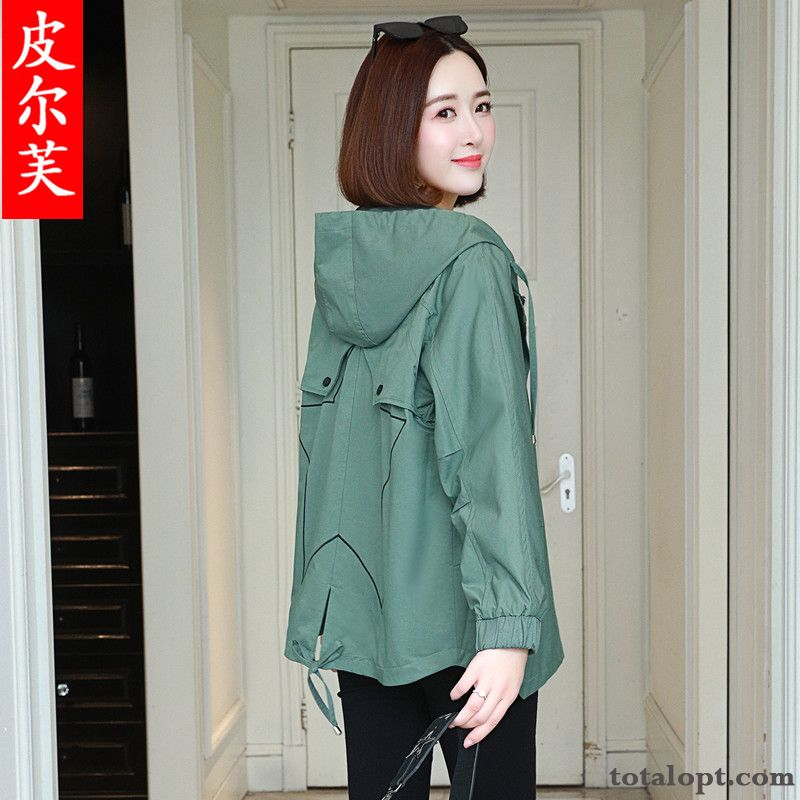 Jacket Spring Coat Autumn Loose New Shorts Large Size Fat Women's Trend Breen Darkgreen Discount