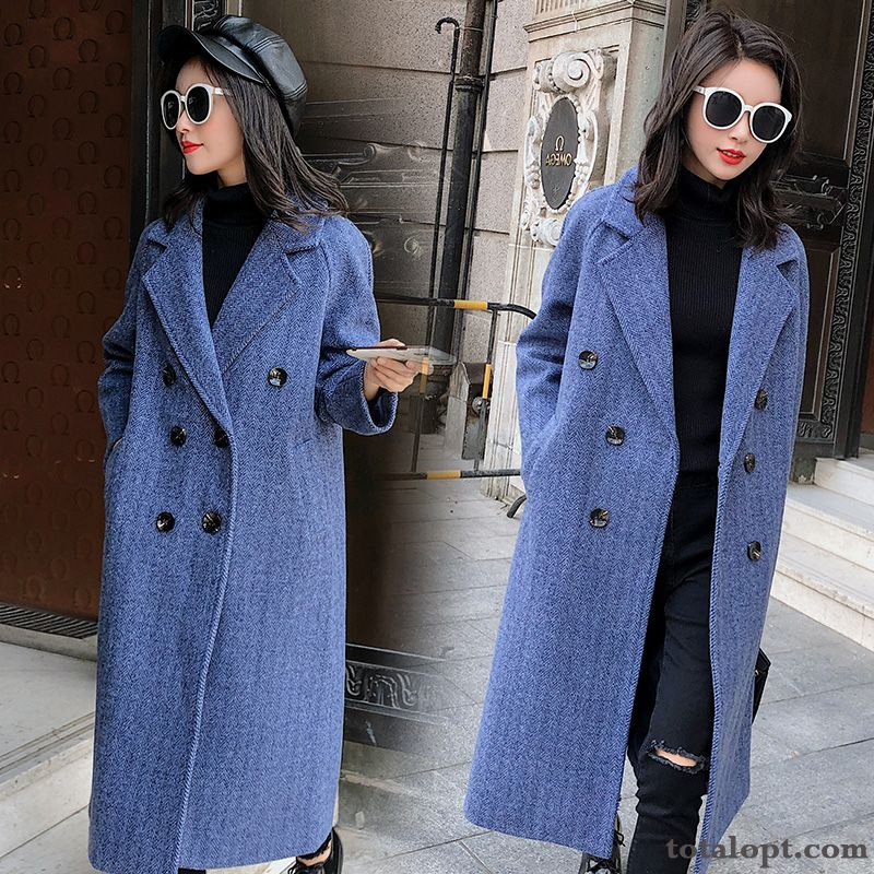 Lapel Noble Comfortable Fashion Personality Blue Popular Winter Grey Black All White For Sale