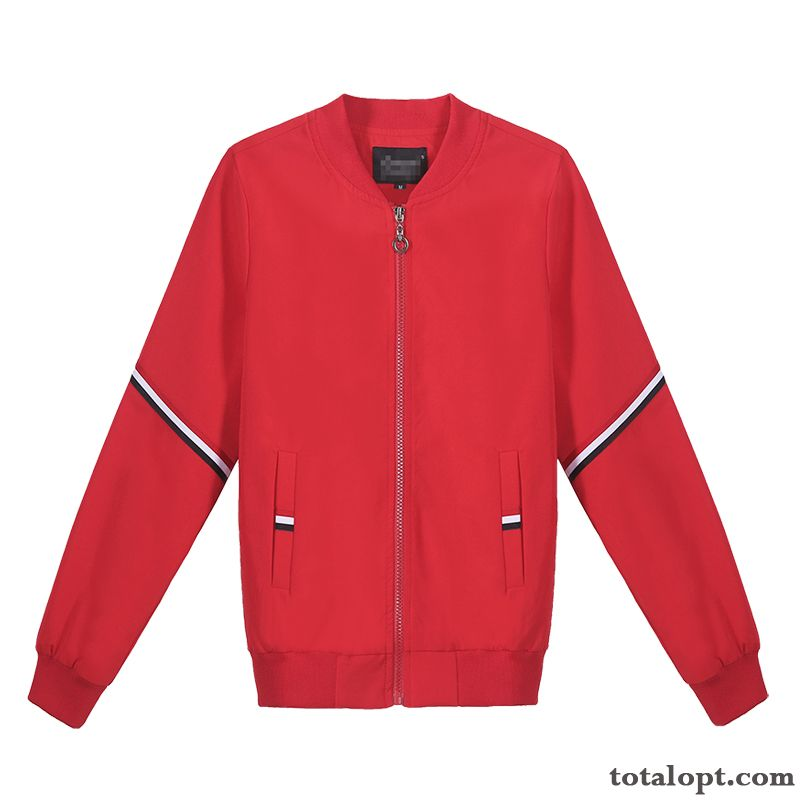 Leisure All-match New Coat Autumn Red Large Size Europe Women's Jacket Fashion Short Spring Trend Baby Pink Breen