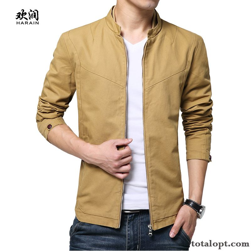 Leisure Europe Coat Youth Student New Spring Trend Jacket Autumn Yellow Green Maroon For Sale