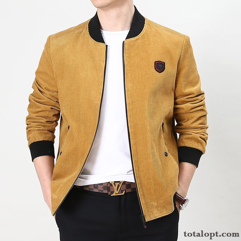 Leisure Spring Men's Jacket Loose Autumn Coat New Skyblue Saddlebrown