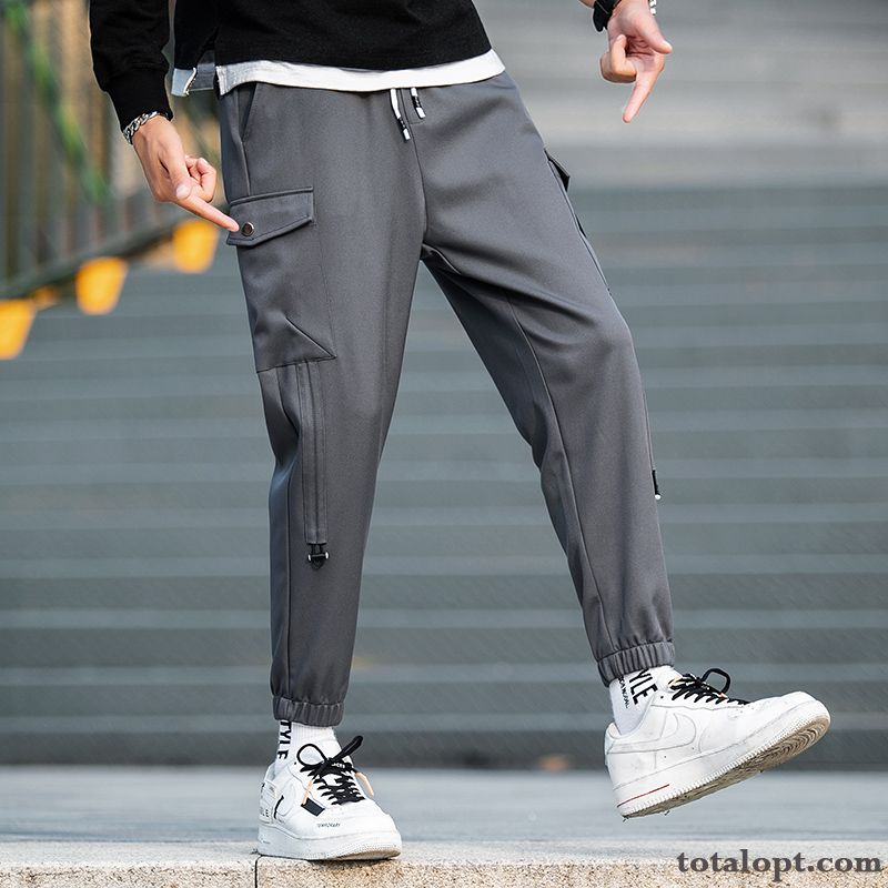 Leisure Trend Pants Spring Tooling Europe All-match Gray Straight Trousers Men's Dark Modena Rose Online