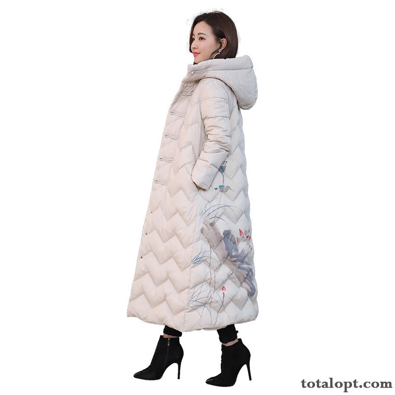 Leisure Trend White Long Section Loose Fashion Autumn Temperament Comfortable Down Jacket Modena Pansy Online