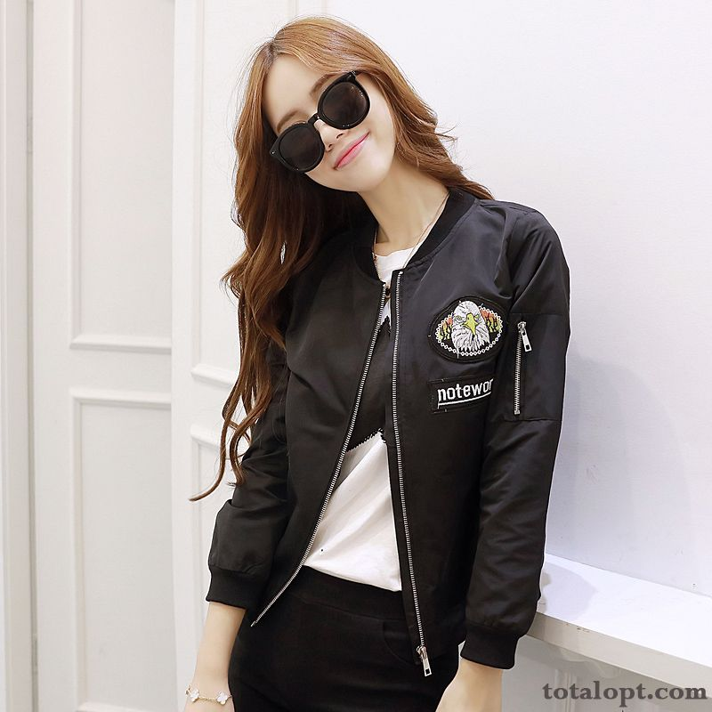Letter Jacket Women's Coat Embroidery Cotton Student Trend Shorts Vermeil Rosybrown Discount