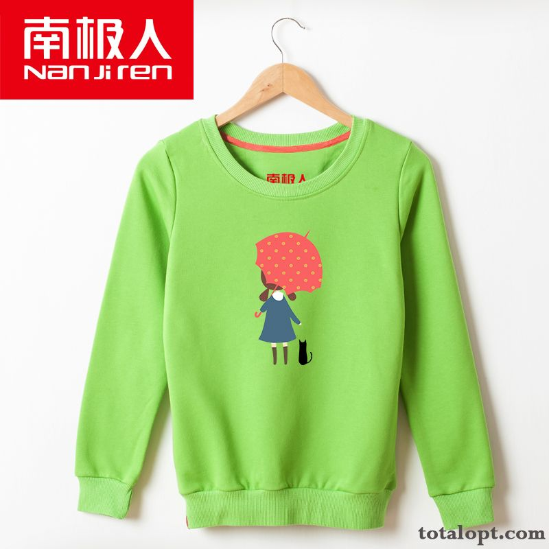 Literature Art Trend Coat Student Europe Hoodies Short Round Neck Loose Preppy Style All-match Women's Pullovers Rubine Peachpuff