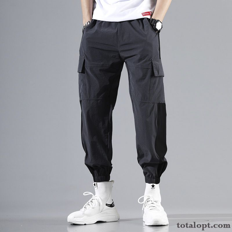 Loose Leisure Pants Black Skinny Harlan Trend Summer Men's Spring Tooling Ocean Blue Powderblue Discount