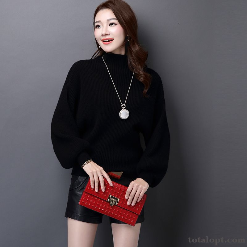 Loose Pullovers Knitwear Sweater Women's Winter Bat Large Size Thickening Autumn Short White Modena Sale