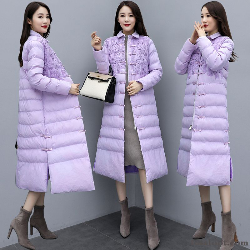 Loose Pure Thin Fashion Winter Cotton Purple Elegant All-match Temperament Personality Nude Vermeil