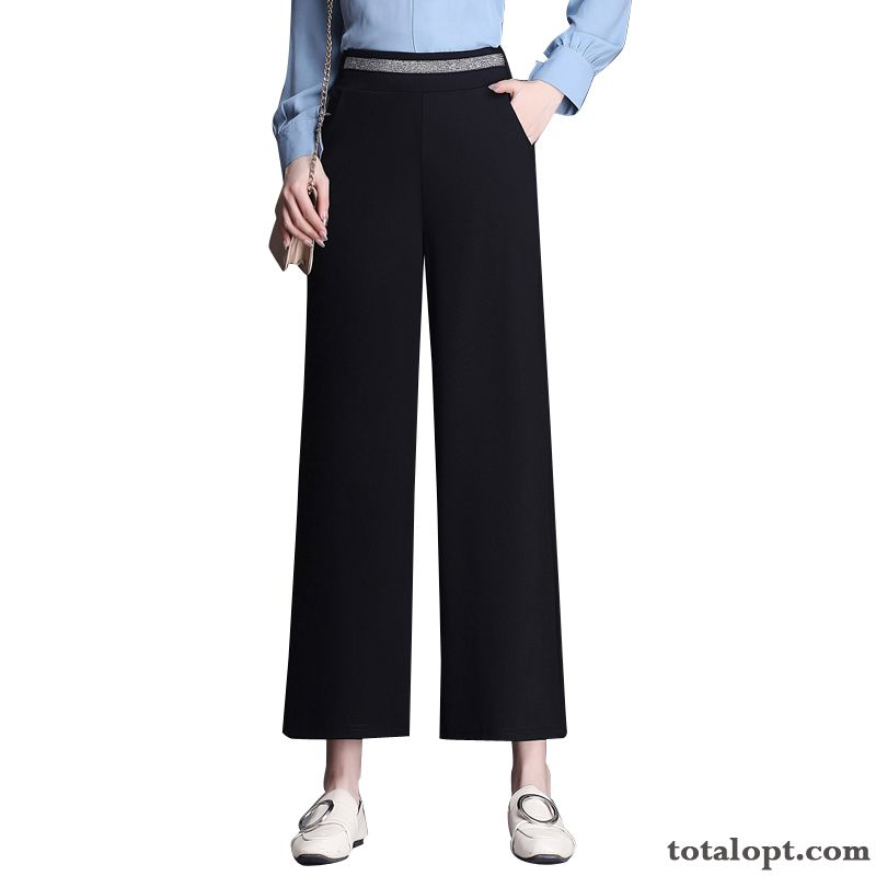 Loose Straight New Leisure Summer Women's Pants High Waist Skinny Black Rainbow Khaki Sale