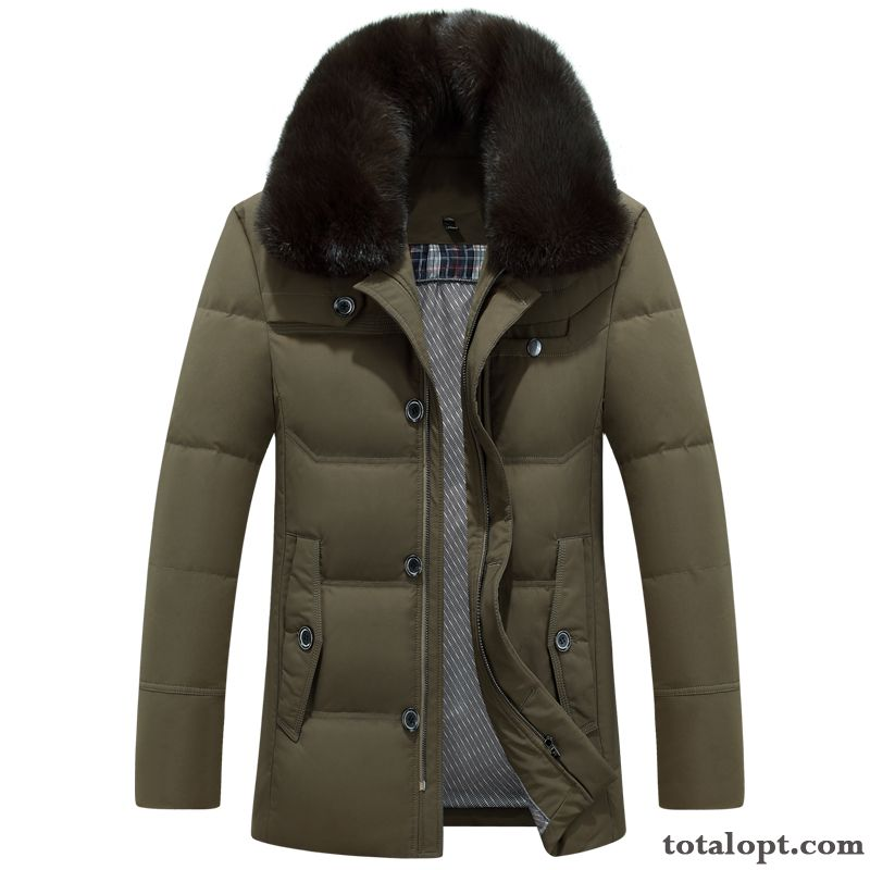Men's Down Jacket Long Section Warm Thickening Coat Large Size Winter Clothes Powderblue Peachpuff Discount