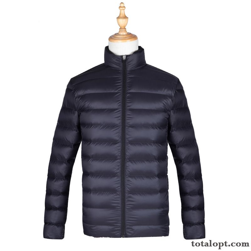 Men's Short Winter Clothes Popular Down Jacket Light Special Offer Youth Coat New Bisque Wheat