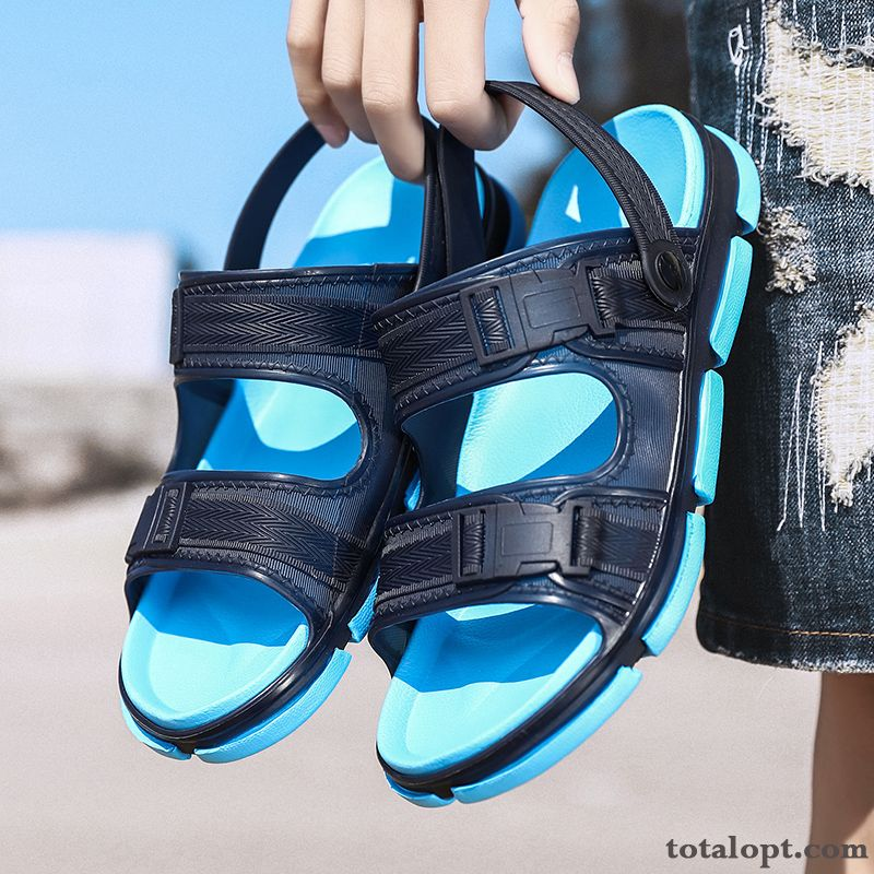 Men's Summer Blue Casual Lovers Slippers New Sandals Beach Fashion Outwear Pink Iridescent For Sale