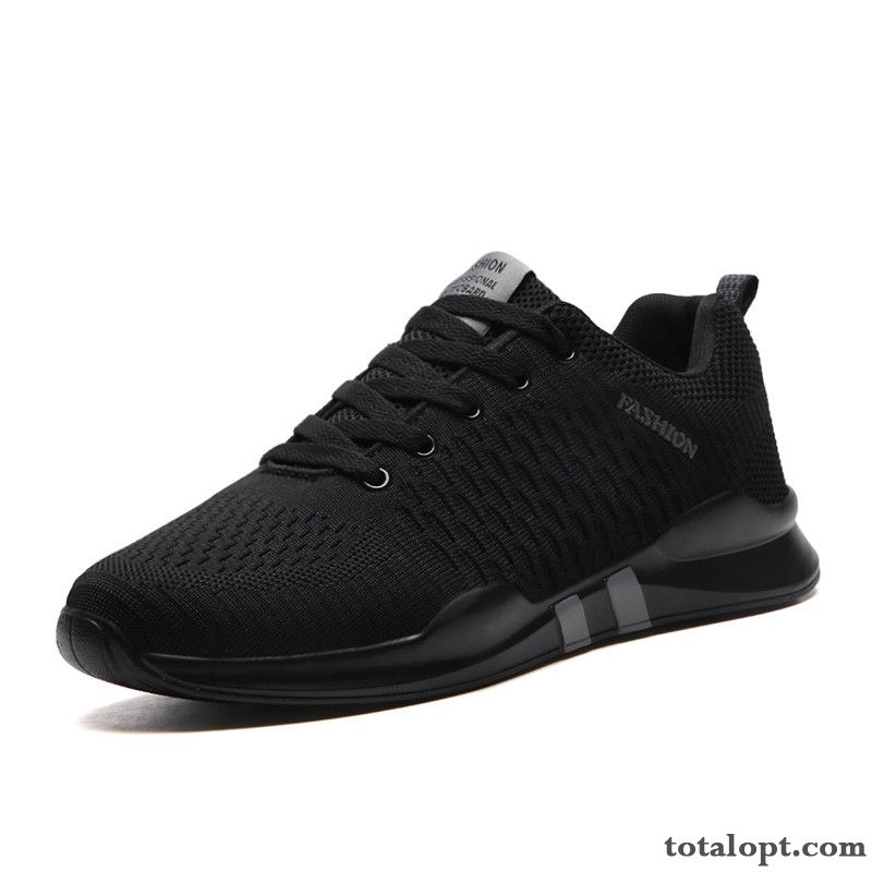 Mesh Shoes Autumn Men's Summer Running Trend Sport All-match Black Casual Breathable New Rose Violet Ivory White