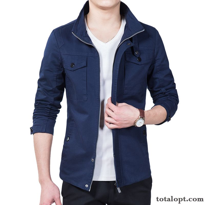 New Coat Spring Leisure Autumn Youth Skinny Men's Jacket Trend Pink Darkkhaki Online