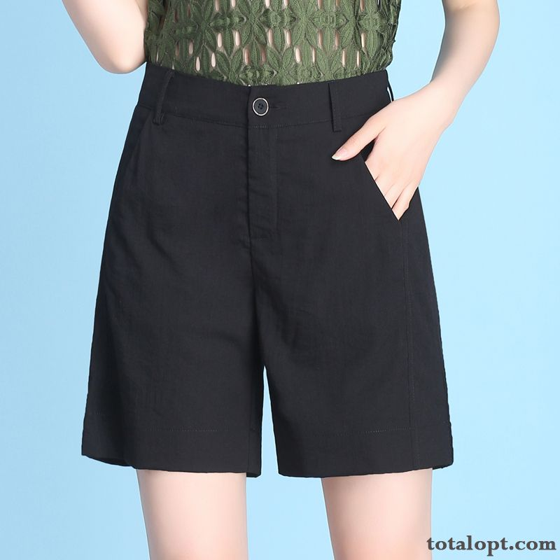 New Leisure Thin Loose Shorts Women's Short Pants Summer Skinny All-match Black Lemon Purplish Red Online
