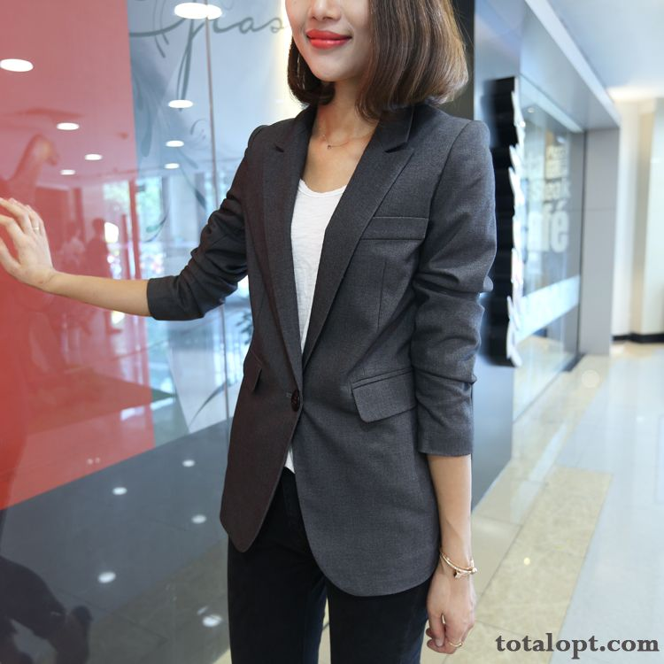 New Products Slim Coat Gray Lady Black Women's Leisure Suit Spring Europe Blue Tomato Sale