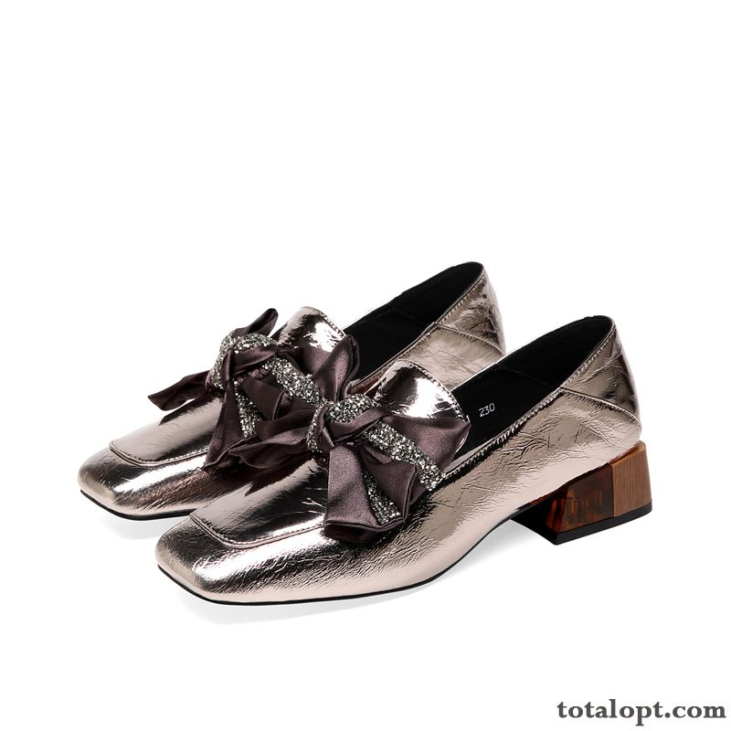 New Spring Small Women All-match Bow Raw White Tan Online
