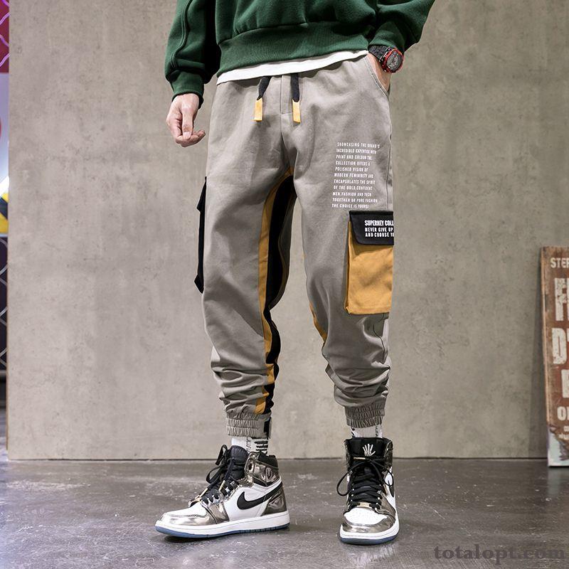 Pants Men's Trend Autumn Loose Gray Student Europe New Tooling Rose Rose