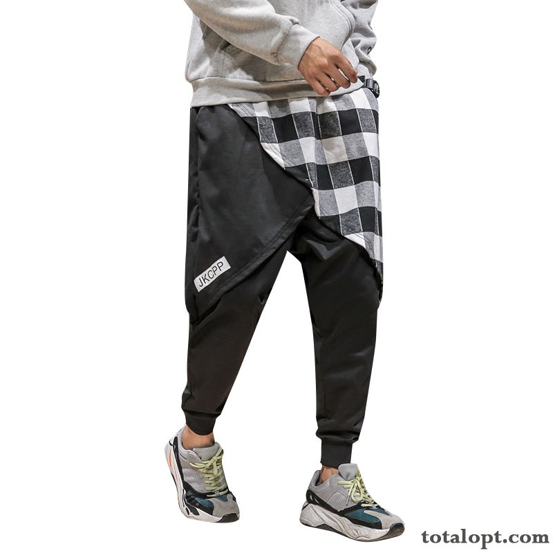 Pants Tooling Autumn Loose Trend Men's Large Size Fat Leisure Black Snow-white Deep Yellow Discount